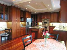creative kitchen design. Fancy Kitchen Decoration Ideas Using Brazilian Cherry Wood Cabinet : Creative Design N