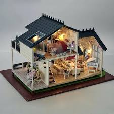 doll house lighting. Dollhouse Lighting Kit Luxury Villa Furniture Miniature With Music And Led Lights Wood Toy Doll House I