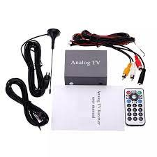 1 VP P 12V 300MV Universal ABS 12V Car Analog TV DVD Set top Box Receiver  with Remote Control Car Accessories|TV-Tuners