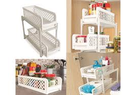 Kitchen Cupboard/Drawer Organiser Under Shelf Storage Basket ...