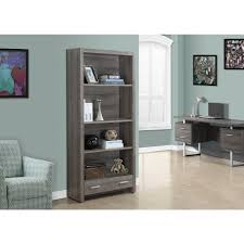 monarch specialties bookcase.  Monarch Monarch Specialties Dark Taupe Storage Open Bookcase Throughout N
