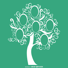 famiy tree green family tree template vector download