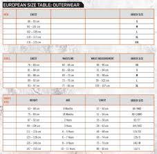 Ktm Jacket Size Chart Ktm Powerwear Size Chart
