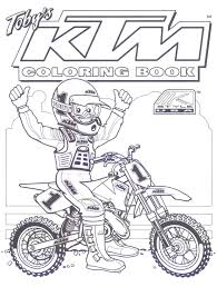 Small Picture KTM Dirt Bike Coloring Pages Pinteres