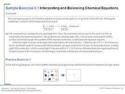 sample exercise 3 1 interpreting and balancing chemical equations