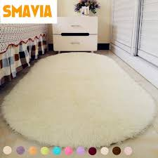 solid color ellipse floor carpet long hair gy soft area rug bedroom living room anti slip kids mat plush rug carpet places mohawk carpets from goutour