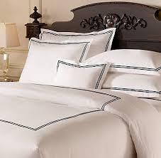 italian hotel satin stitch bedding