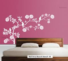 Wall Tree Stencil Designs Wall Stencils India Arte Inspire