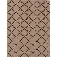 hampton bay moroccan tile beige navy 8 ft x 10 ft indoor