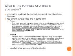 what a thesis statement is and what it isn t what is the purpose of a thesis statement