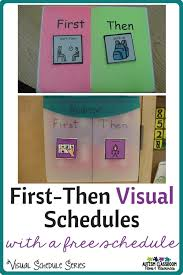 If Then Chart Autism Visual Schedule Series First Then Schedules Freebie