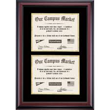 double diploma frame black and gold matting for two x  double diploma frame black and gold matting for two 8 5 x 11 diplomas