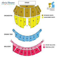 Chicago Symphony Seating Chart Altria Theater Seating Chart Seating Chart