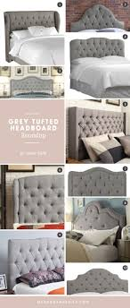 Grey Tufted Headboard Roundup by Robin Budd via www.mendonandbelle.com  @robinbudd