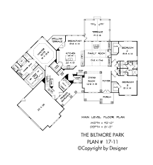 biltmore park house plans by garrell associates, inc Mountain Craftsman House Plans biltmore park house plan 17 11, main level floor plan mountain craftsman house plans with photos