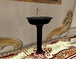 Marble pedestal sink Vessel Black Marble Pedestal Sinktouch Faucet Water Onoff 2e7fc4aeaa3acbdc62ab00ff3a40d1cd Pinterest Second Life Marketplace Black Marble Pedestal Sinktouch Faucet