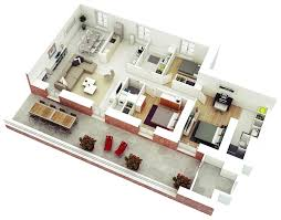 Small Picture 13 More 3 Bedroom 3D Floor Plans Amazing Architecture Magazine