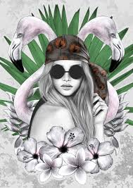 PALMA illustration exclusively created for ARANAZ T by Krizia.