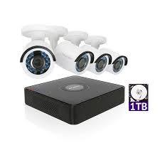 LaView 1080P HD 4 Security Cameras 4CH Home Video Camera System w/ 1TB HDD 2MP Night View CCTV Surveillance Kit - Walmart.com