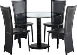 Round glass tables and chairs 80cm Round Glass Dining Table And Chairs Ebay Glass Dining Table And Chairs Ebay