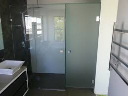 frameless acid etched clear shower toilet shower screen