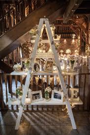 wedding lighting diy. Diy Lighting For Wedding. Barn Wedding Ladder Display