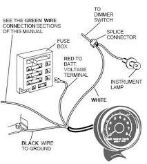 sun super tach ii wiring installation instructions with diagram Sun Tachometer Wiring at Sun Tune Mini Tach Wiring Diagram
