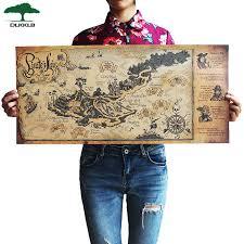 DLKKLB <b>Retro Kraft Pirate Sailing</b> World Map Poster Wall Sticker ...