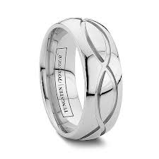 arcadia wedding band. dublin 6mm/8mm connected unique infinity cobalt chrome wedding band - the perfect st. arcadia n