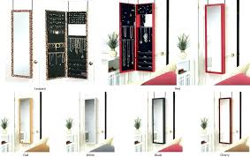over the door jewelry armoire jewelry over the door mirror cabinet wall jewelry box hanging jewelry