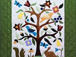Applique Tree of Life Quilt -- wonderful smartly made Amish Quilts ... & ... Applique Tree of Life Wall Hanging Photo 2 ... Adamdwight.com