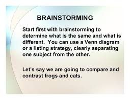 compare and contrast essay by anne garett 10 brainstorming start