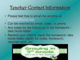 Meet The Teacher Night Class 5g Ppt Download