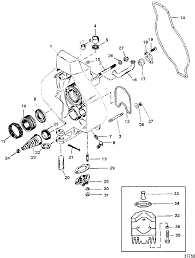 Mercruiser alpha one gen ii sterndrive and transom assembly