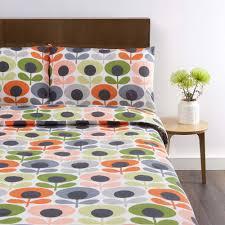 orla kiely 70 s flower bedding tomato at dotmaison