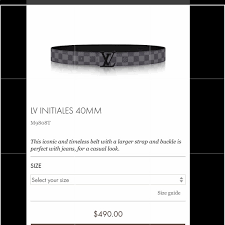 Louis Vuitton Belt Size Chart Men Louis Vuitton Men S Belt