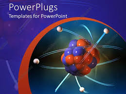 Blue And Orange Powerpoint Template Powerpoint Template Atom Electrons Science Blue And Orange