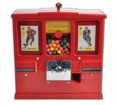 Playing Card Vending Machine Custom Vintage Oak Premiere Hockey Card And Gumball One Cent Vending