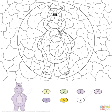 Coloring Pages Hippo Dapmalaysiainfo