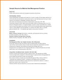 Sample Resume Objectives For Health Administration New Resumes