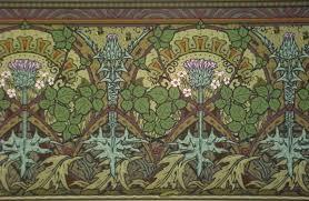 thistle berry frieze art nouveau