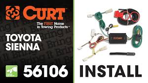 curt manufacturing curt custom wiring harness 56106