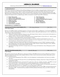 Ideas Collection Sample Resume For Project Manager It Software