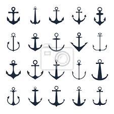 Obraz Ikony Kotvy Vector Lodí Kotvy Na Bílém Pozadí Pro Mořské Tetování