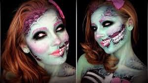 makeup tutorial cute glittery pop art zombie