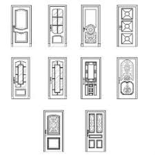 cad block of doors elevation in dwg