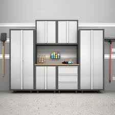 Large Garage Cabinets Decor Stongest Gladiator Garage Shelving With Best Iron Skin For