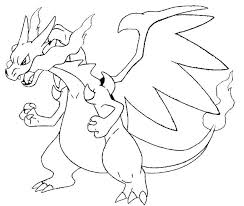 Pokemon Coloring Pages Charizard Coloring Pages Medium Size Of Mega