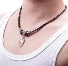 necklace cords for pendants ideas 2016 pendant woven leather cord necklace leather swords pendant