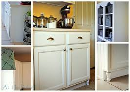 Kitchen Cabinets With Feet Make Your Own Frugal Kitchen Cabinet Feet At The Picket Fence